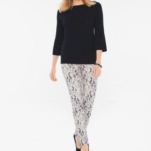 Chicos lace overlay ankle pants